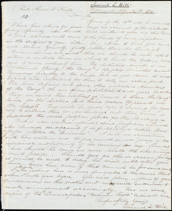 Letter from Samuel L. Hill, Willimantic, Ct., to Amos Augustus Phelps, Feby 24th 1836