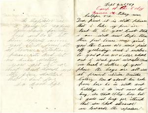 Alonzo Spencer Letter