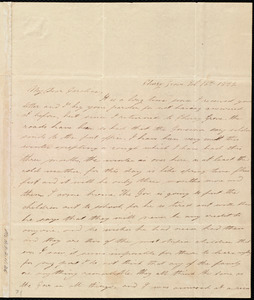 Letter from Lucretia Ann Cowing, Cherry Grove, [Maryland], to Caroline Weston, Feb. 16th, 1839