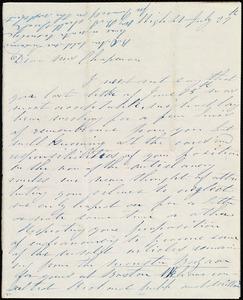 Letter from Annie Allen, High St[reet], [Dublin, Ireland], to Maria Weston Chapman, July 29th, [1845]
