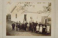 Mrs. Ellen W. Adams and her class, Tariffville