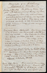 Memoranda of an antislavery movement in Leicester by Samuel May, February, March, April, 1844