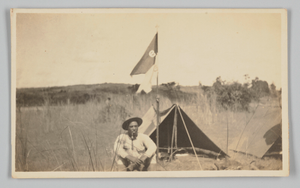 Photographic postcard of Charles Wilbur Rogan in the Philippines