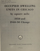 1960 areas of Negro residence in Chicago / prepared by Chicago Urban League Research Department. Notes on areas of Negro residence map-1960
