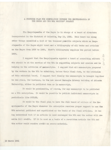 A proposed plan for cooperation between the encyclopedia of the Negro and the WPA Writers' Project