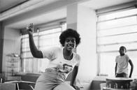 Unidentified student at Junior High School 149, 1976