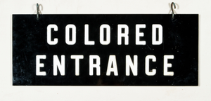 Colored entrance sign