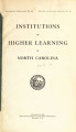 Institutions of higher learning in North Carolina