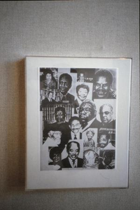Collage of photographs of Black celebrities