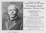 Rev. W. D. Cook, D.D.; The Peoples Church and Metropolitan Community Center