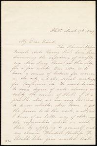 Letter from Mary Grew, Phila[delphia], [Penn.], to Anne Warren Weston, March 17th, 1849
