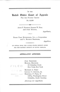 Appellants' Appendix