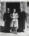 Photograph, 1964 Feb. 23, (Atlanta, G.A.), H.I. Bearden, Althea Hunter, and Joseph A. De Laine, Sr.