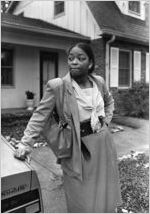 Deputy Chief of Police Beverly Harvard outside her home, 1985