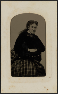 Tintype portrait of Mrs. Annie Cox