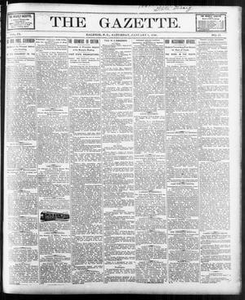The Gazette. (Raleigh, N.C.), Vol. 9, No. 45, Ed. 1 Saturday, January 1, 1898 The Gazette The Weekly Gazette