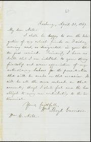 Letter to] My dear Nell [manuscript