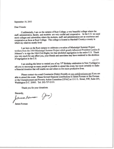 Letter from James Forman to Civil Rights Co-workers