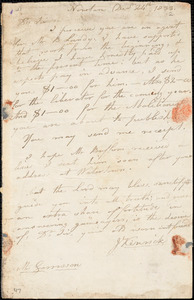 Letter from John Kenrick, Newton, [Massachusetts], to William Lloyd Garrison, 183[2] Dec[ember] 24th