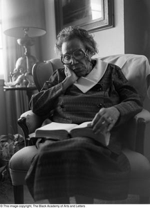 Photograph of Mable Chandler reading a book Dallas/Fort Worth Black Living Legends Dallas/Fort Worth Black Living Legends, 1992