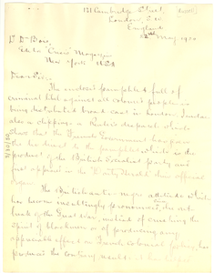 Letter from Nathan S. Russell to W. E. B. Du Bois