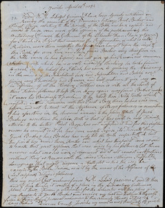 Letter from Henry Titus, Jericho, [New York], to William Lloyd Garrison, 1854 April 12th