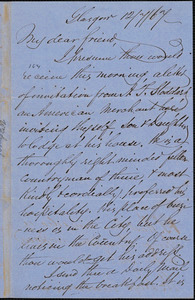 Letter from William Smeal, Glasgow, [Scotland], to William Lloyd Garrison, [18]67 [July] 12
