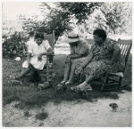 Two Negro supervisors and FSA [Farm Security Administration]borrower talk over the home problem. St. Mary's Co., Md