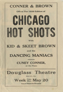 Circular advertising the Chicago Hot Shots at the Douglass Theatre, Macon, Georgia, 1927 May 20 to May 26