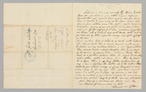 Letter to Giles Saunders from Samuel M. Fox concerning the slave trade