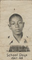 School portrait of an African American boy.
