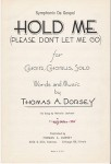 Hold Me (Please Don't Let Me Go), 1958