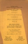 A Cultural Evening in Celebration of Brotherhood Week, program, 1955-02-25