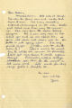 Letter from Janie to Beth Taylor