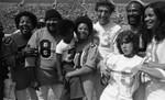 Billy Davis, Ronald Townson, Rodney Allen Rippy, Joseph Campanella, Ruth Buzzi, Marvin Gaye and Marilyn McCoo, Los Angeles, 1973