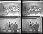Set of negatives by Clinton Wright including Mrs. McGlothlin's piano class, and athletic trophy presentation at City Gym, 1964