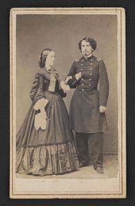[Brigadier General William Sackett of 19th Illinois Infantry Regiment and 9th New York Cavalry Regiment in uniform and his wife, Anna Sisselberger Sackett]