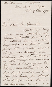 Letter from Louisa Thompson, Nosworthy, Leeds, [England], to William Lloyd Garrison, Oct[ober] 9th 1878