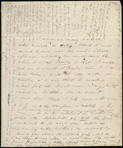 Letter from Wendell Phillips to Maria Weston Chapman, [184?]