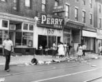 """Negroes riot and loot in North Philadelphia."""