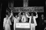 Maxine Waters, Jessie Jackson, and Stevie Wonder at a Black Women's Forum event, Los Angeles, 1984
