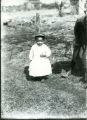 Small child in white dress