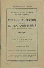 Journal of Proceedings and Year Book of the 33rd Annual Session of the West Florida Conference [of the] African Methodist Episcopal Church