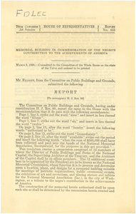 Report to accompany H. J. Res. 60