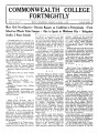 Commonwealth College Fortnightly, Vol 10, No. 6-7, March 15 - April 1, 1934; More Girls Next Quarter, Director Reports On Conditions In Pennsylvania, Farm School On Wheels Visits Campus, Oka To Speak In Oklahoma City, Delegation Studies 2 Negro Schools; Commonwealth Courses, Current Events; The Love Of Humanity