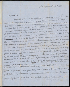 Letter from S. Alfred Steinthal, Bridgewater, [England], to Samuel May, Nov. 7th, 1853