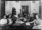 [Detroit Youth Council members meeting in Detroit branch office]