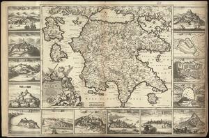 Peloponnesus hodie Moreae Regnum: distincté divisum in omnes suas provincias, hodiernas atque veteres, cui et adiuguntur insulæ Cefalonia, Zante, Cerigo et St. Maura