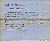 Montgomery County, Alabama Slave Holder Affidavits: October 19, 1861