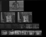 Set of negatives by Clinton Wright including debutante practice, Bishop Webb's appreciation, class at Highland School, and Reverend Thompson's church, 1969